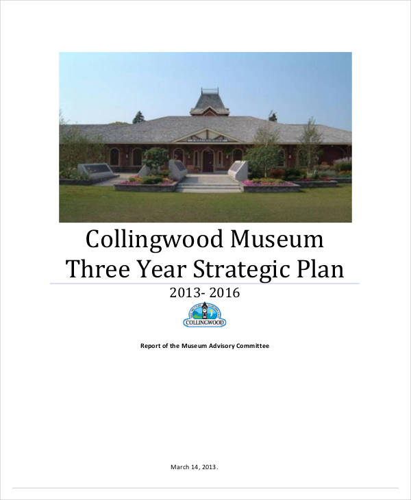 museum three year strategic plan