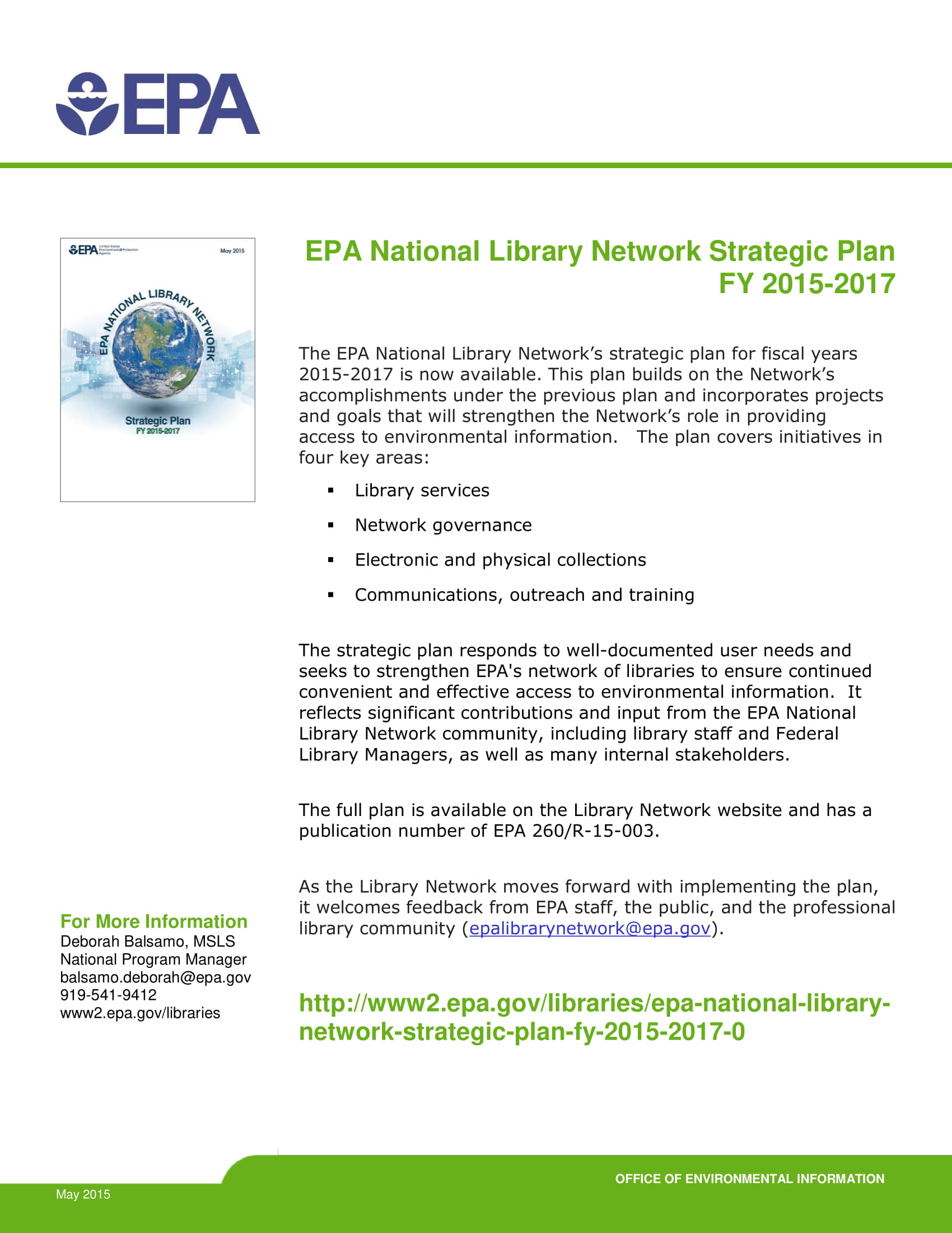 national library network strategic plan example