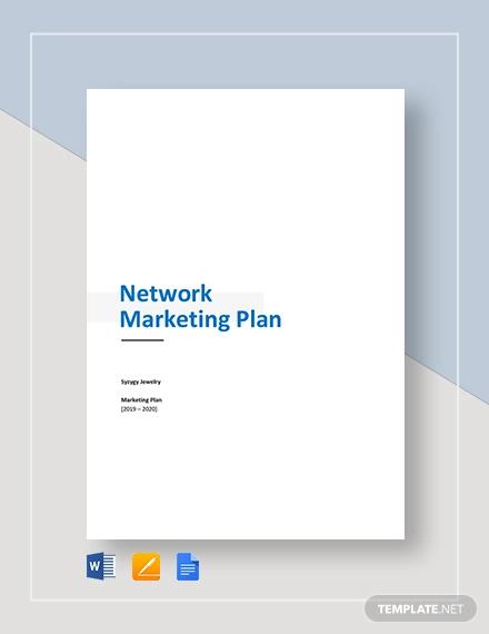 network marketing plan template