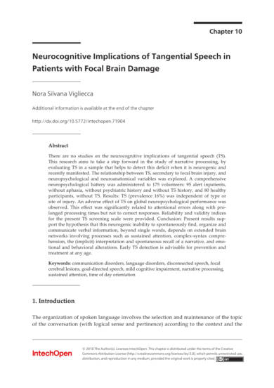 neurocognitive implications of tangential speech