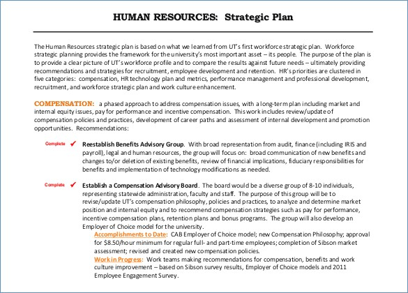 human capital strategic plan template - human capital strategic plan template choice image