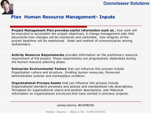 new human resource management plan example