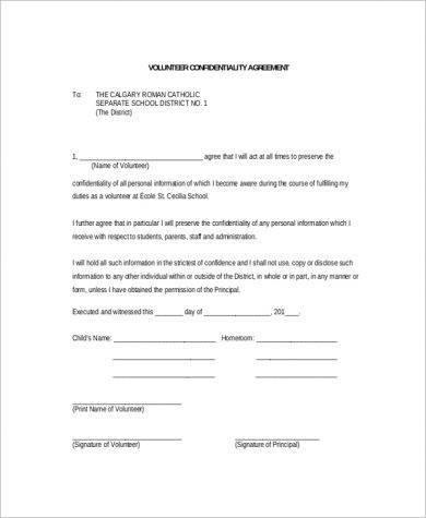 new school confidentiality agreement example1