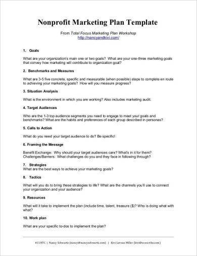 non profit marketing strategy business plan example1