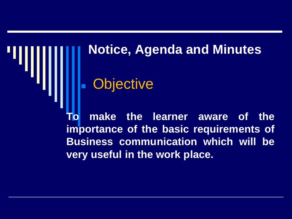 notice agenda and minutes writing example
