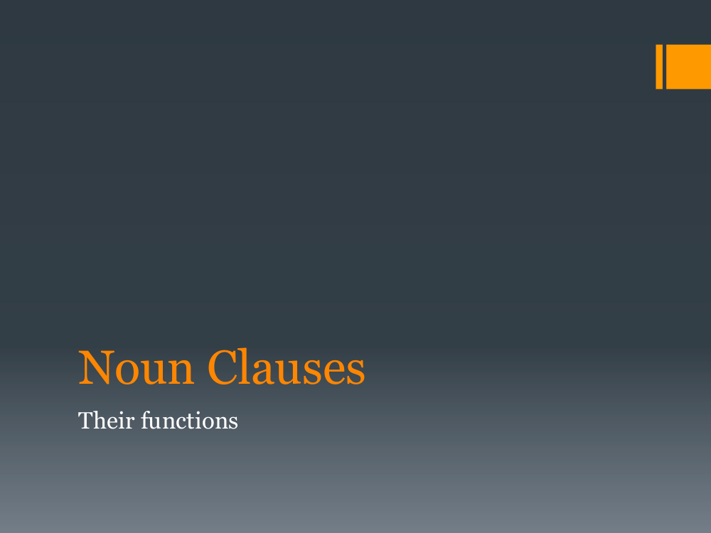 noun clauses and their functions