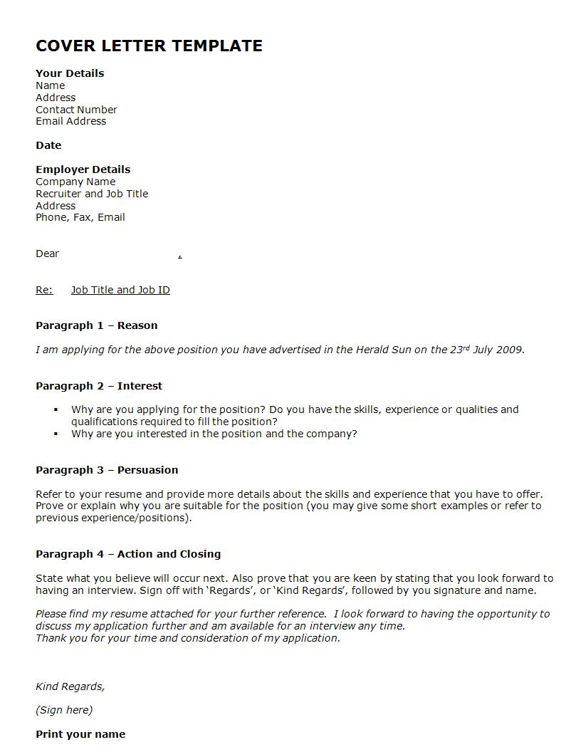 official cover letter template example1