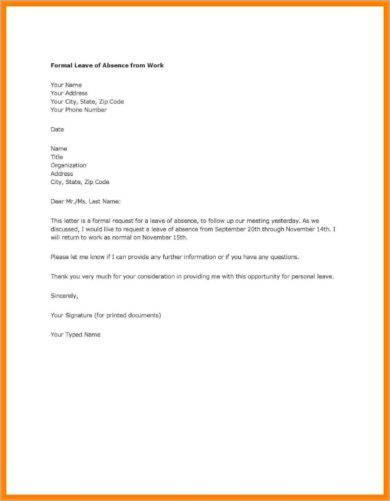official leave letter from work example3
