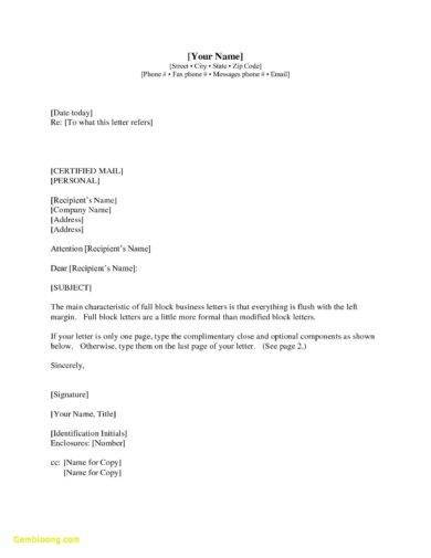 official letter writing template21