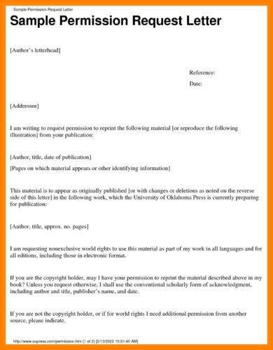official letter writing for permission example11