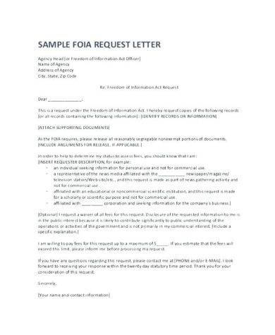 official letter writing for request example3