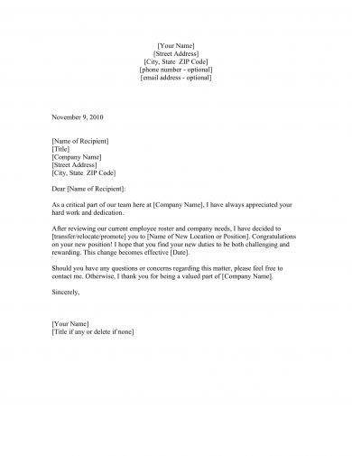 27  official letter examples