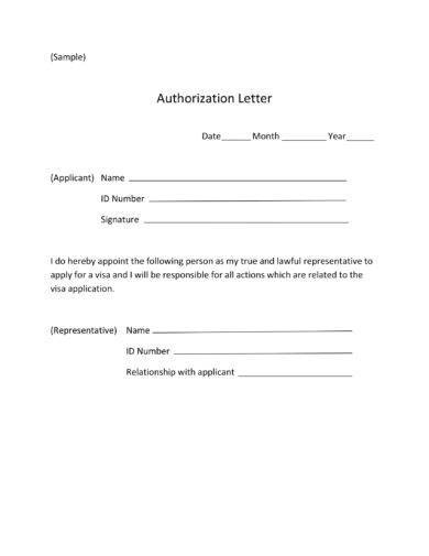 official visa authorization letter example2