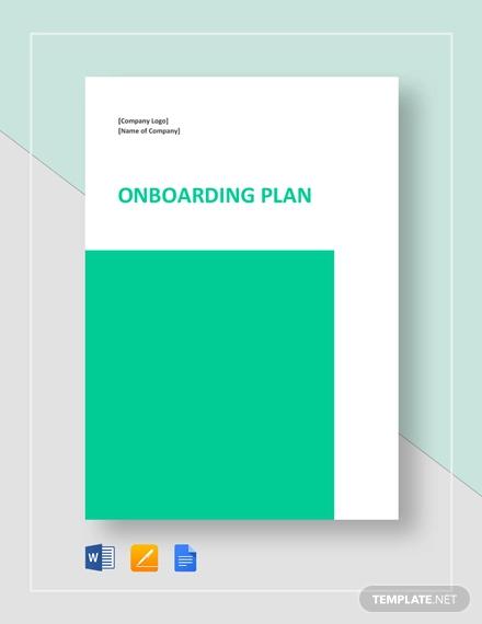 onboarding plan example