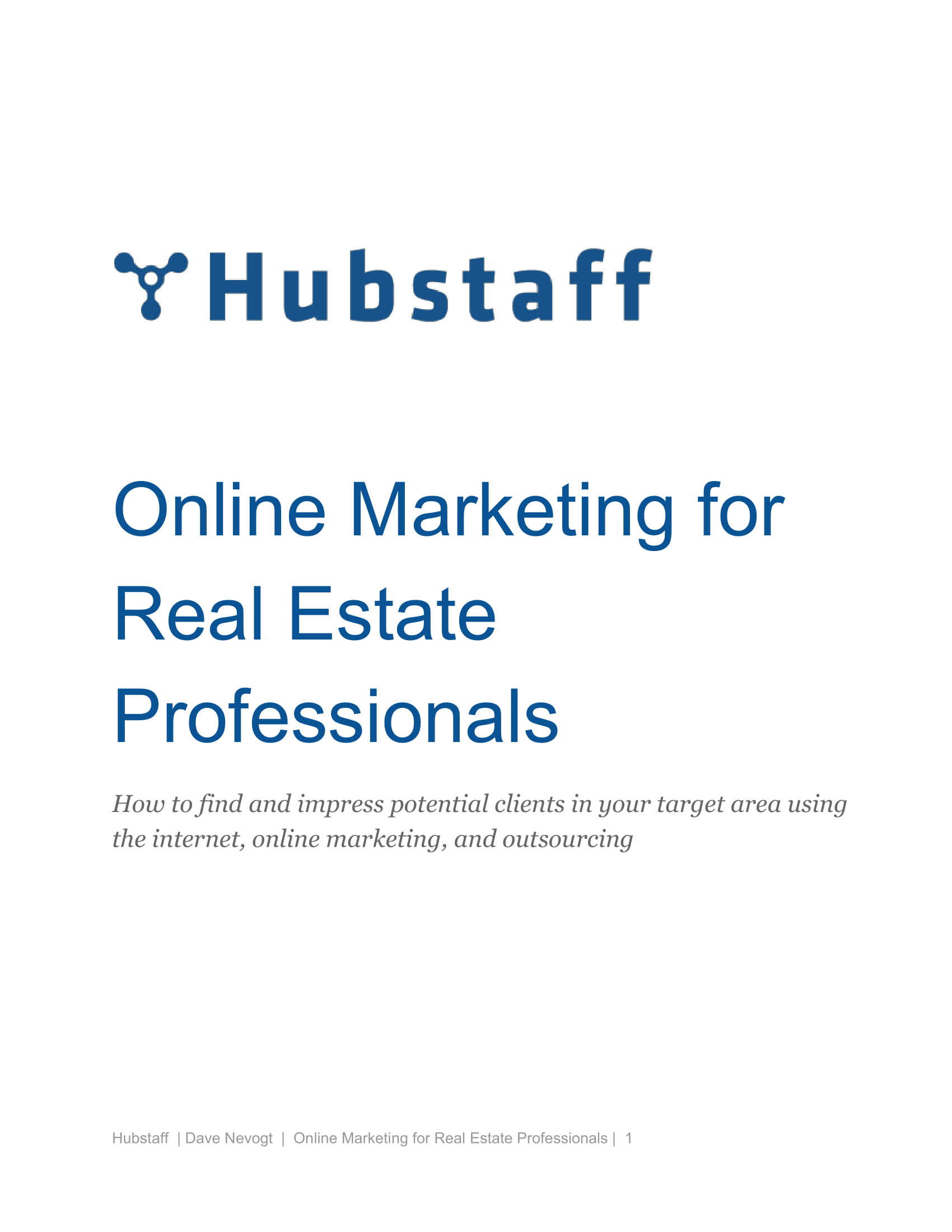 online marketing plan for real estate professionals example 01