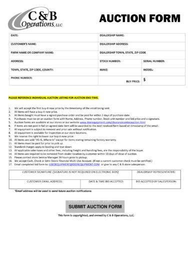 operation auction bid form example1