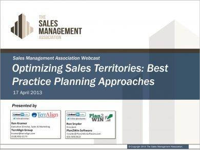 optimizing sales territories best practice planning approaches example
