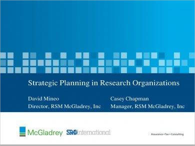 organizational research strategic plan example1