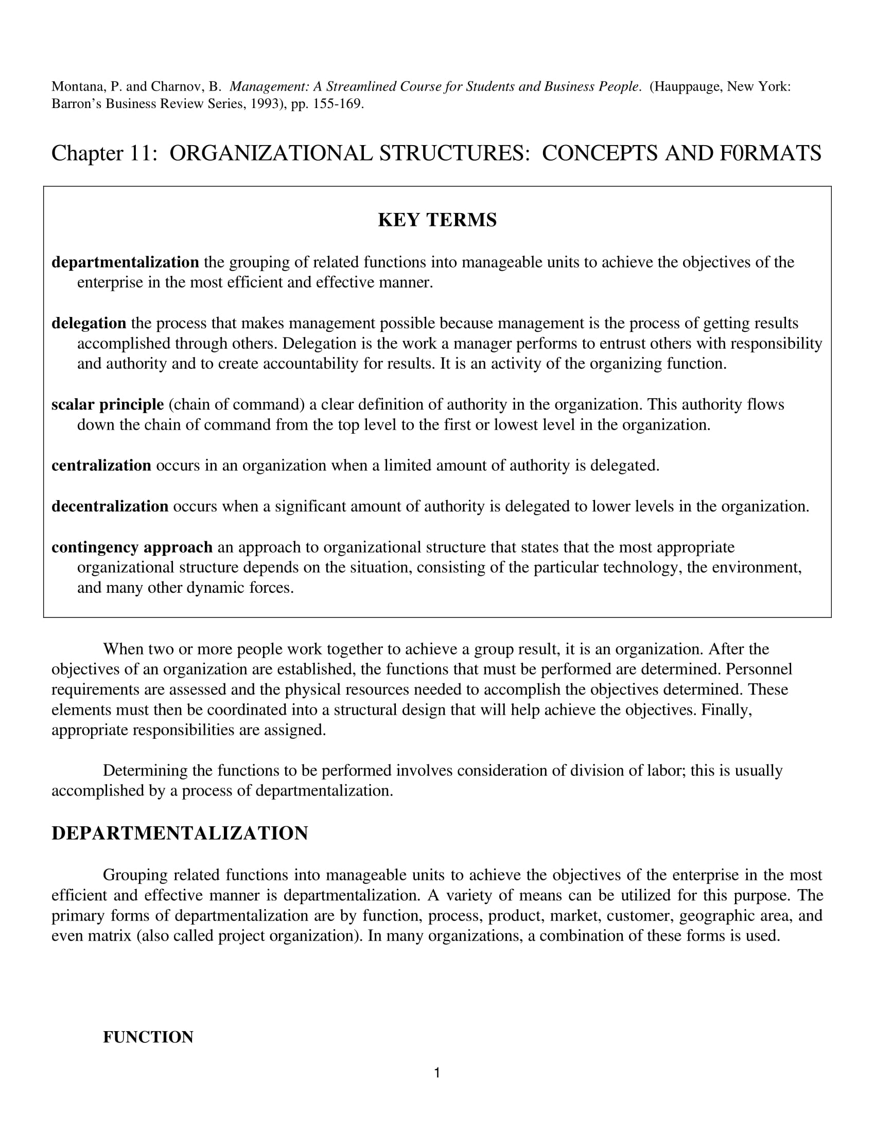 organizational structures concepts formats and examples