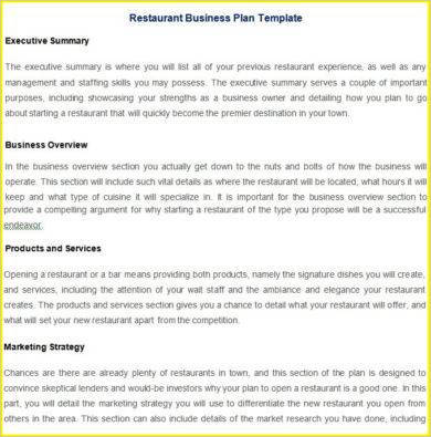 10+ Restaurant Action Plan Examples - PDF | Examples