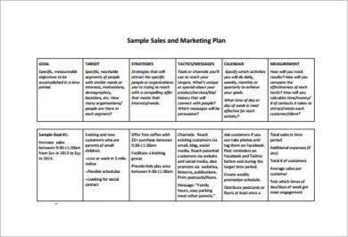 outline for sales and marketing plan example2