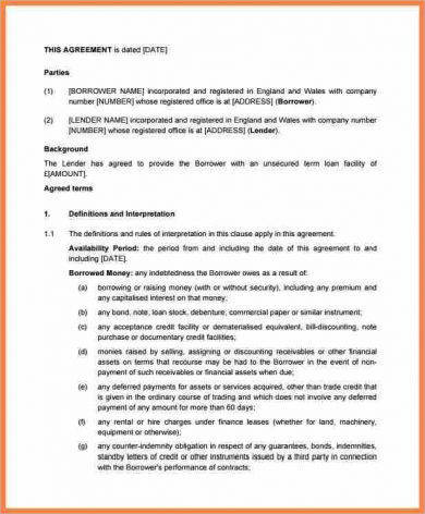 outline for small business investment agreement example1