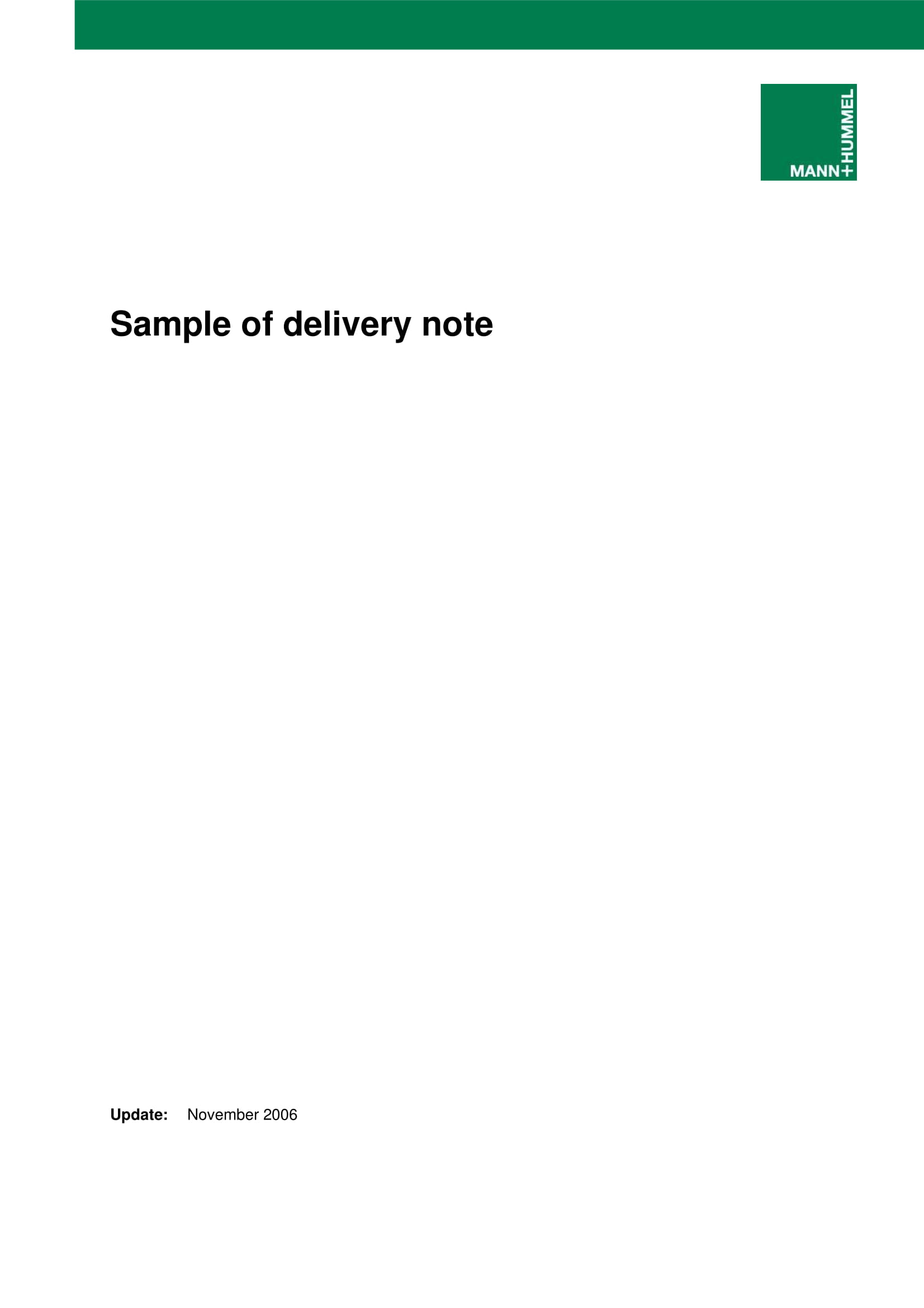package delivery slip