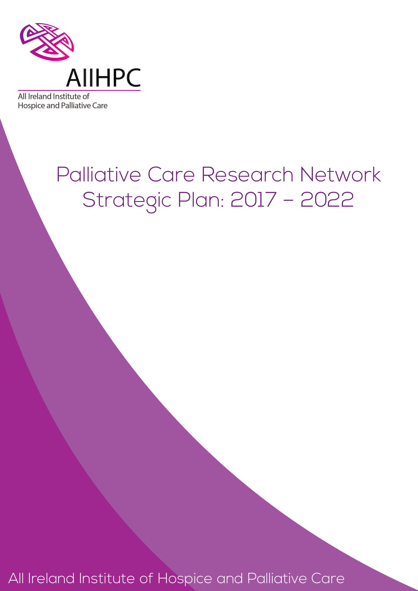 palliative care research network strategic plan example