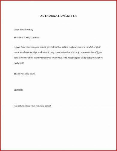 20 authorization letter format examples pdf passport authorization letter format example spiritdancerdesigns Image collections