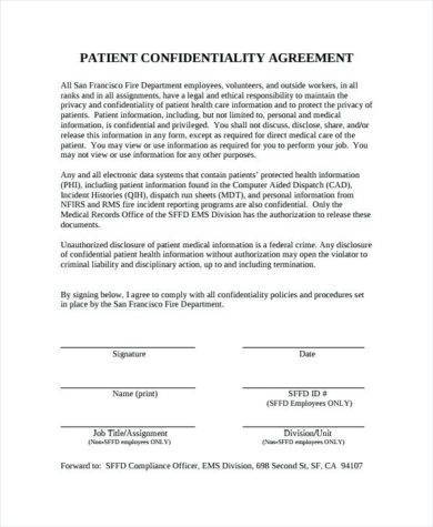 patient confidentiality agreement1