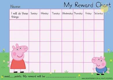 peppa pig reward chart example1
