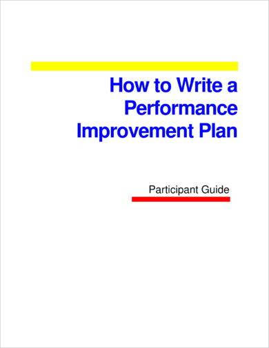 performance improvement action plan for employees example