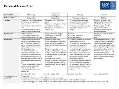 personal work action plan2