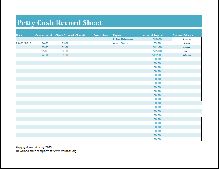 12 petty cash log template examples pdf