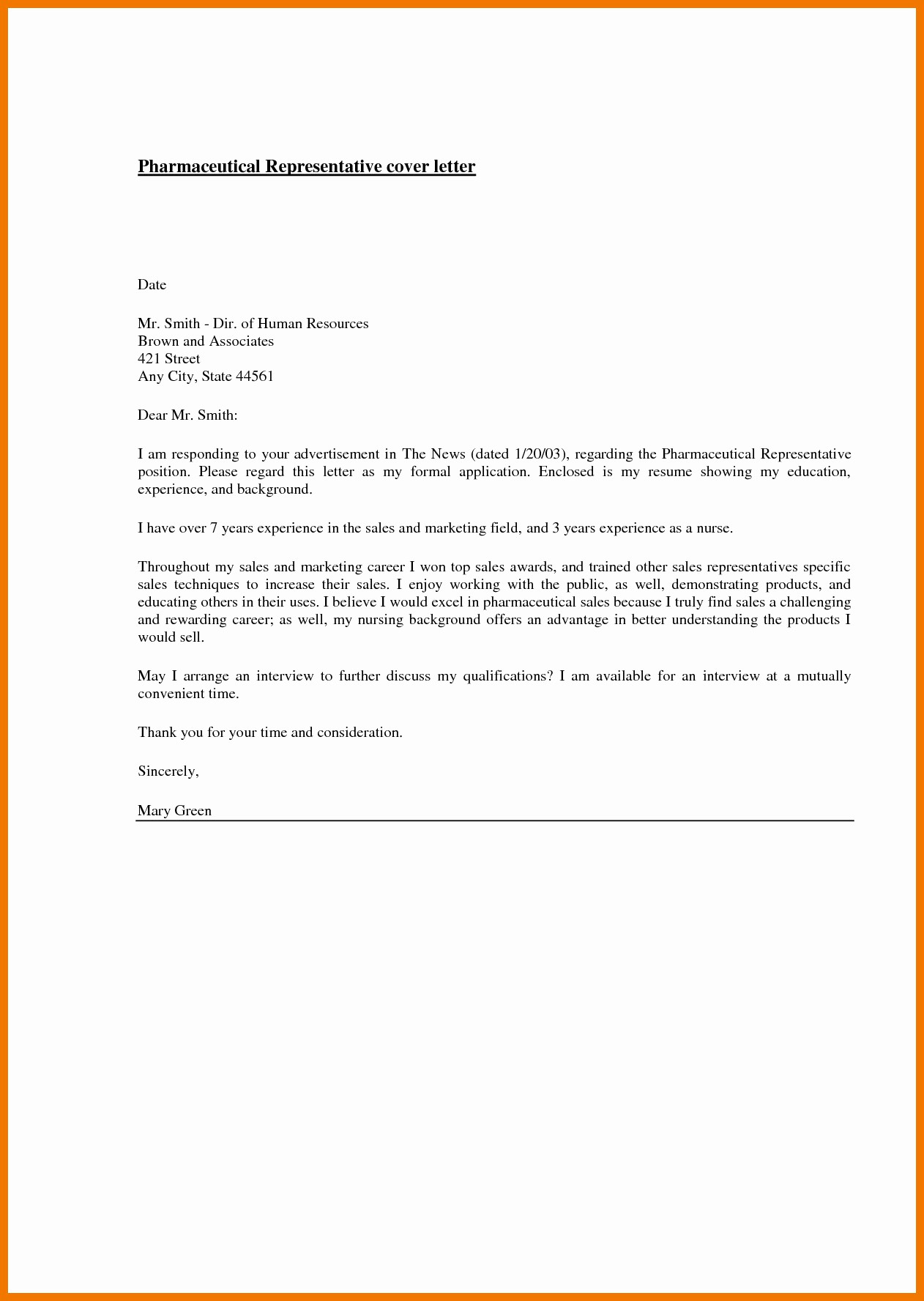 Pharmaceutical Cover Letter Examples from images.examples.com
