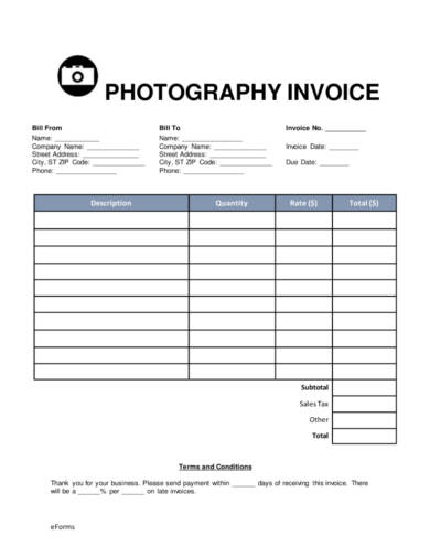 photography invoice template3