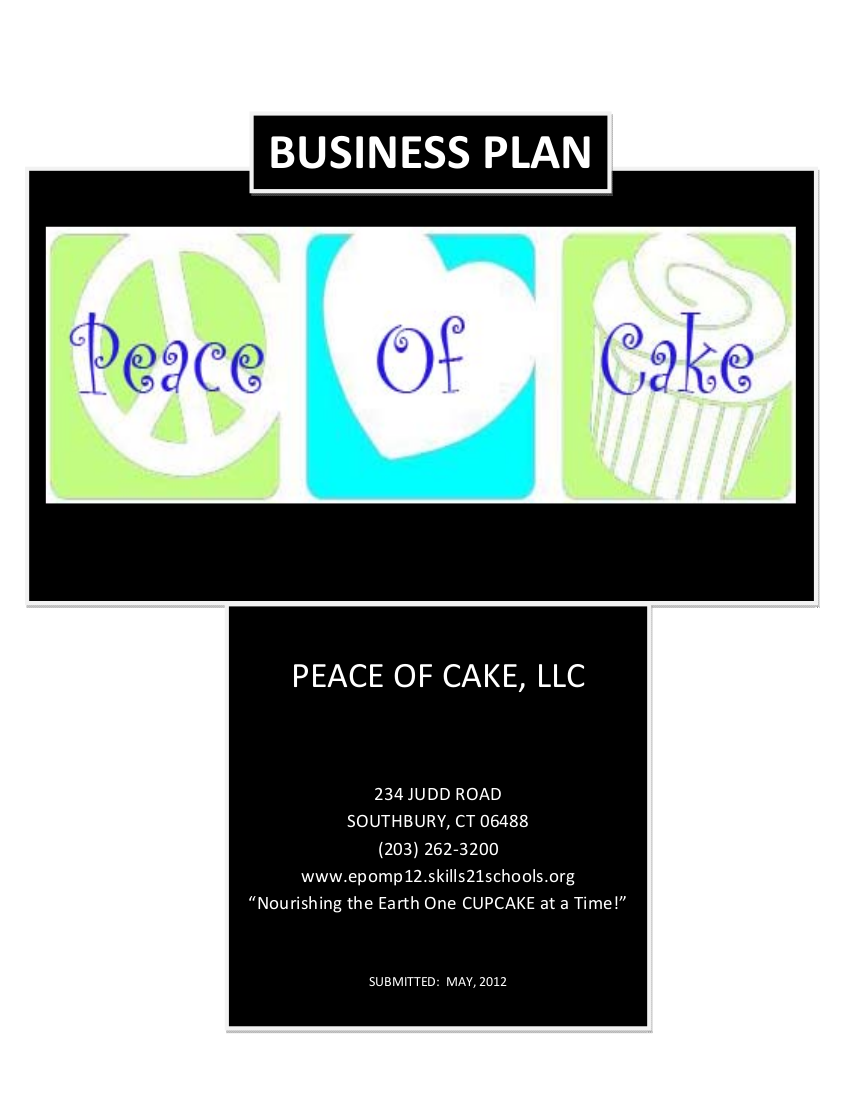 piece of cake business plan example