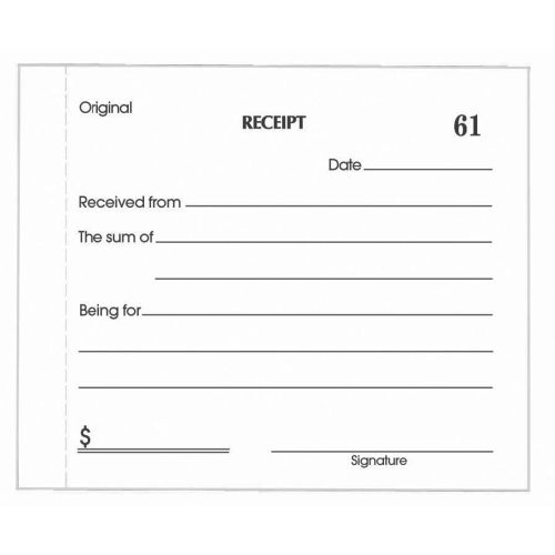 plain receipt template