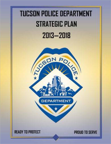 police department strategic plan example