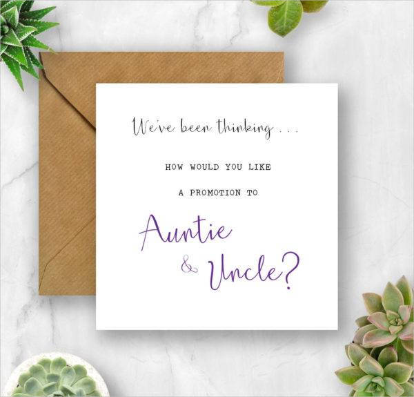 pregnancy announcement promotion card example1