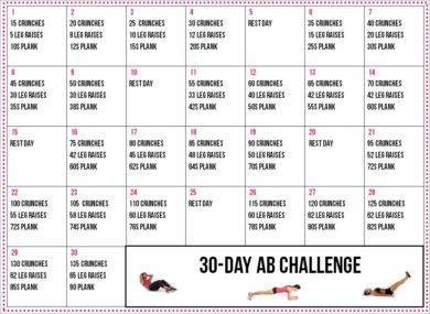 printable 30 day fitness plan example1