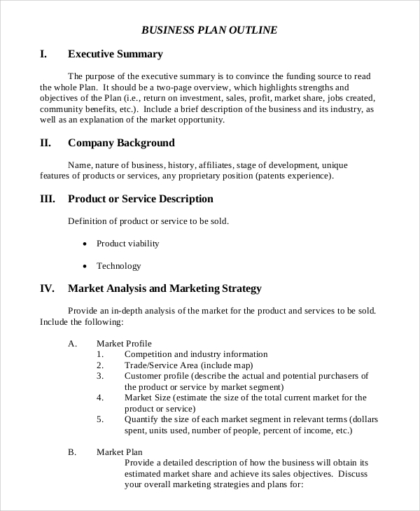 printable marketing executive summary example