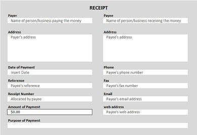 printable receipt example