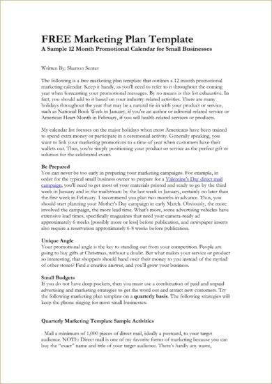 product marketing plan proposal example1