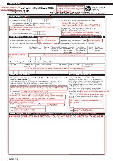 9+ Consignment Note Examples - PDF