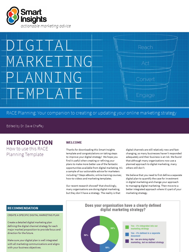 professional digital marketing plan example
