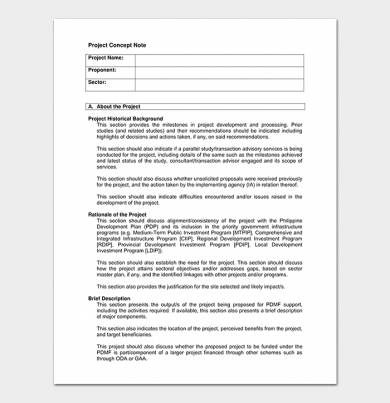 project concept note template