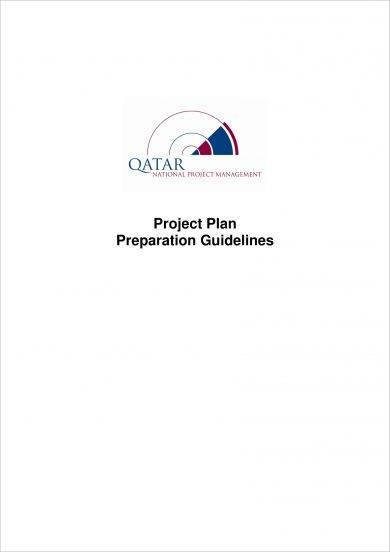 project plan preparation guidelines example