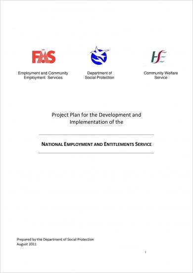 project plan for the development and implementation of the national employment