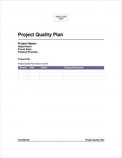 project quality plan format example